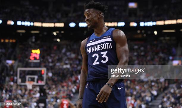 TORONTO ON OCTOBER 24 Minnesota Timberwolves guard Jimmy Butler as theToronto Raptors start their season 50 with a 112105 win over the Minnesota...