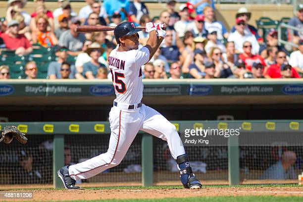 Minnesota Twins Byron Buxton in the sixth inning during MLB game action against the Chicago White Sox on September 3 2015 at Target Field in...