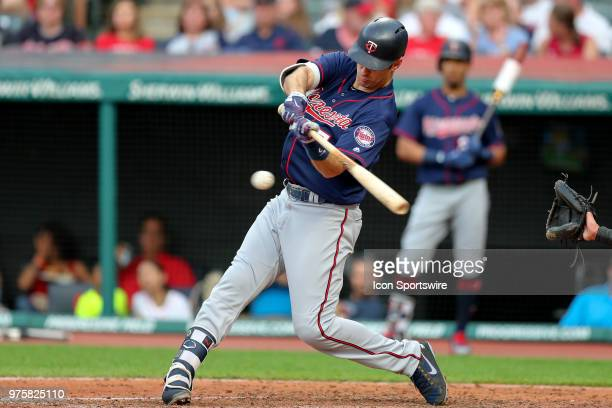 Minnesota Twins first baseman Joe Mauer grounds out during the fifth inning of the Major League Baseball game between the Minnesota Twins and...