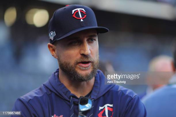 Minnesota Twins manager Rocco Baldelli is seen prior to the ALDS Game 1 between the Minnesota Twins and the New York Yankees at Yankee Stadium on...