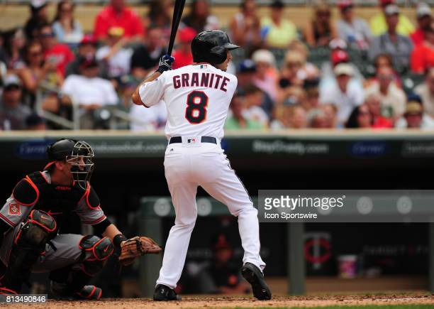 Minnesota Twins rookie batter batter Zack Granite in his first MLB start during their Major League Baseball game against the Baltimore Orioles on...