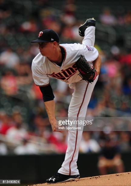 Minnesota Twins starting pitcher Kyle Gibson delivers to the Baltimore Orioles in the first inning of their Major League Baseball game on July 09...