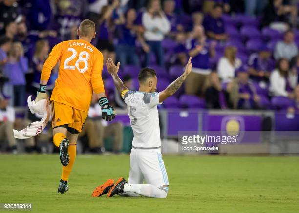 Minnesota United defender Francisco Calvo prior to kickoff during the MLS Soccer match between Orlando City SC and Minnesota United FC on March 10th...