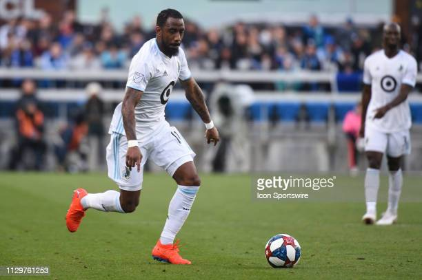 Minnesota United defender Romain Metanire during the MLS match between the Minnesota United and the San Jose Earthquakes at Avaya Stadium on March 9...
