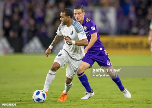 Minnesota United defender Tyrone Mears looks to pass during the MLS Soccer match between Orlando City SC and Minnesota United FC on March 10th 2018...
