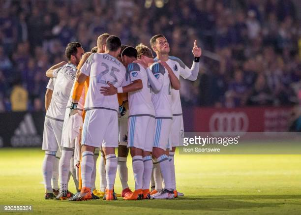 Minnesota United starting 11 during the MLS Soccer match between Orlando City SC and Minnesota United FC on March 10th 2018 at Orlando City Stadium...