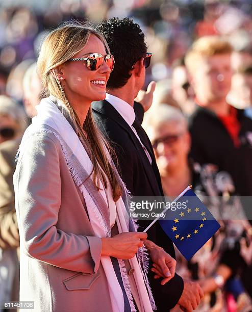 Minnesota United States 29 September 2016 Erica Stoll fiancée of Rory McIlroy of Europe during the opening ceremony ahead of The 2016 Ryder Cup...