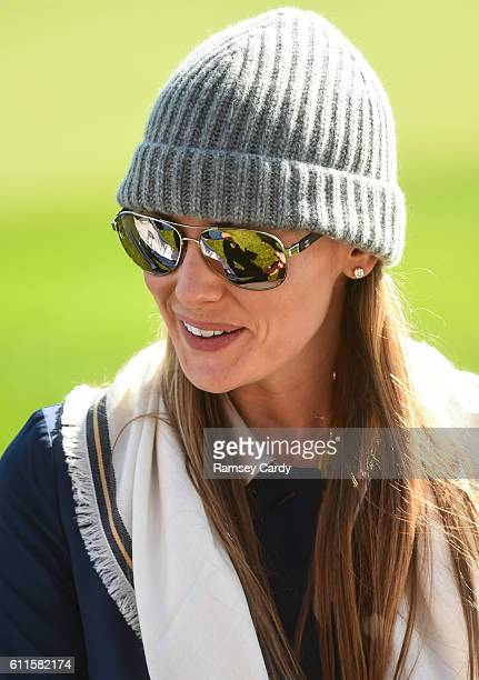 Minnesota United States 30 September 2016 Erica Stoll during the morning Foursomes Matches between Rory McIlroy and Andy Sullivan of Europe and Phil...
