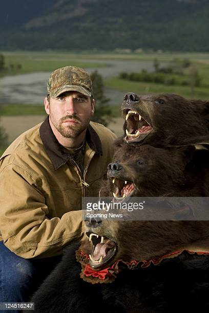 Minnesota Viking Defensive End Jared Allen Poses On A Bear Hunting Trip Near Bonners Ferry ID