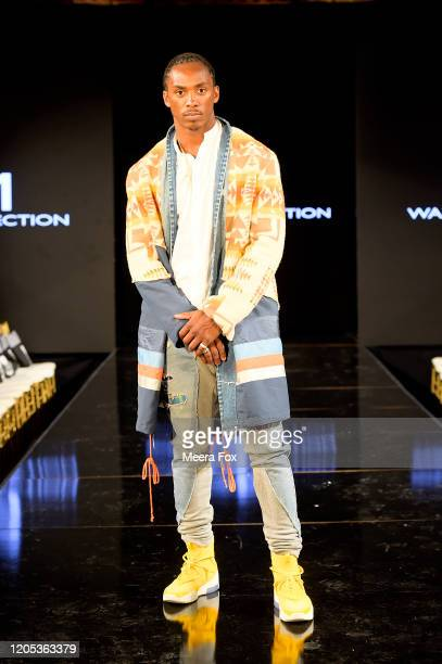 Minnesota Vikings Anthony Harris attends New York Fashion Week Powered by Art Hearts Fashion NYFW February 2020 Front Row – February 9 at The Angel...