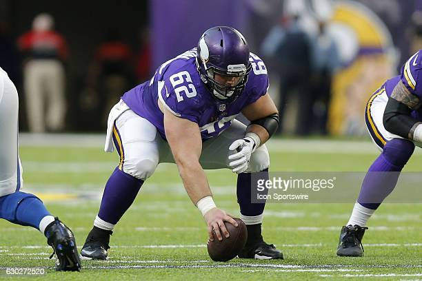 Minnesota Vikings Center Nick Easton in action during an NFL football game between the Indianapolis Colts and the Minnesota Vikings on DECEMBER 18 at...