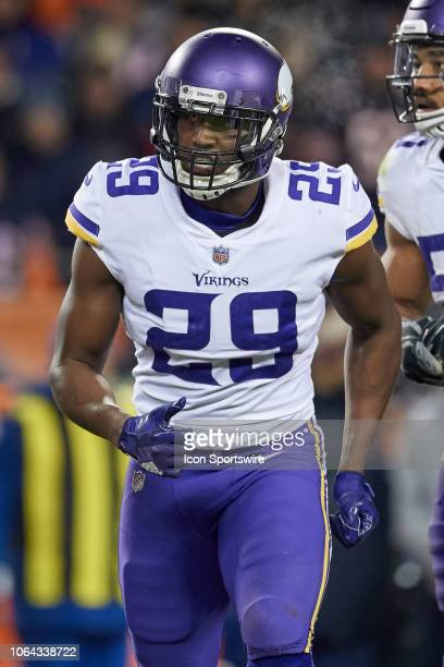 Minnesota Vikings cornerback Xavier Rhodes looks on in action during a NFL game between the Chicago Bears and the Minnesota Vikings on November 18...