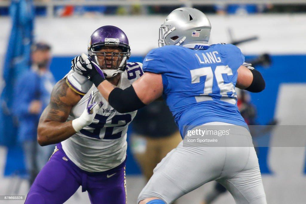 NFL: NOV 23 Vikings at Lions : News Photo