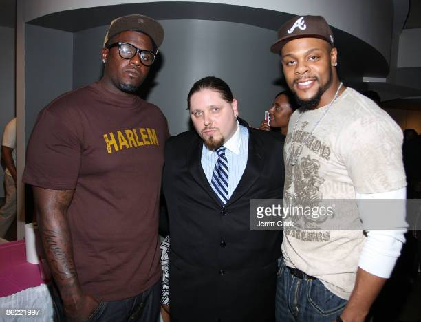Minnesota Vikings Fred Evans Pro Wrestler/Actor/Author Brimstone and Minnesota Vikings Visanthe Shiancoe attend the 2nd annual Fashion and Football...