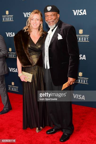 Minnesota Vikings Hall of Famer Carl Eller and his wife on the Red Carpet during the NFL Honors Red Carpet on February 4 2017 at the Worthan Theater...