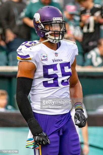 Minnesota Vikings linebacker Anthony Barr during the National Football League game between the Minnesota Vikings and the Philadelphia Eagles on...
