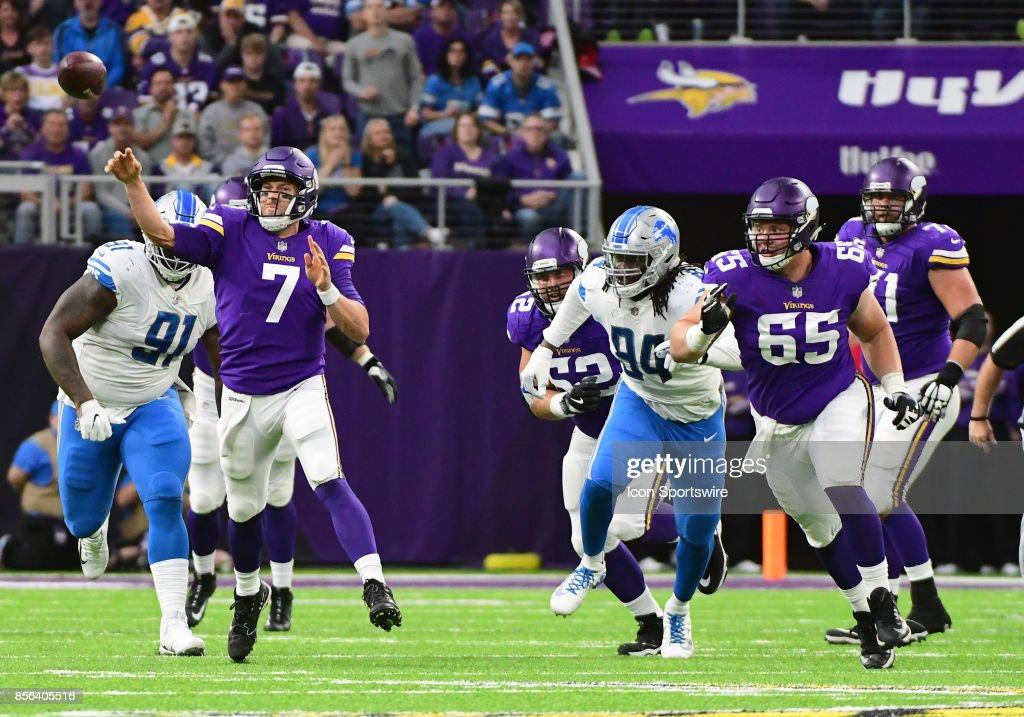 NFL: OCT 01 Lions at Vikings : News Photo