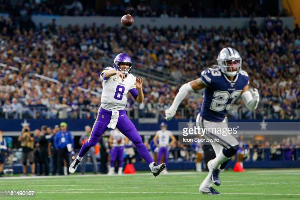 Minnesota Vikings Quarterback Kirk Cousins throws a pass during the game between the Minnesota Vikings and Dallas Cowboys on November 10, 2019 at...