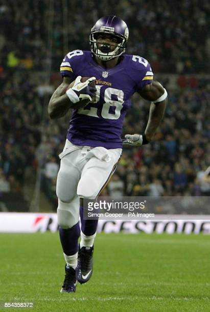 Minnesota Vikings running back Adrian Peterson during the NFL International Series match at Wembley Stadium London