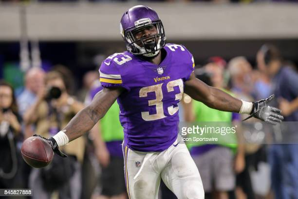Minnesota Vikings running back Dalvin Cook reacts to a play during the game between between the Minnesota Vikings and the New Orleans Saints on...