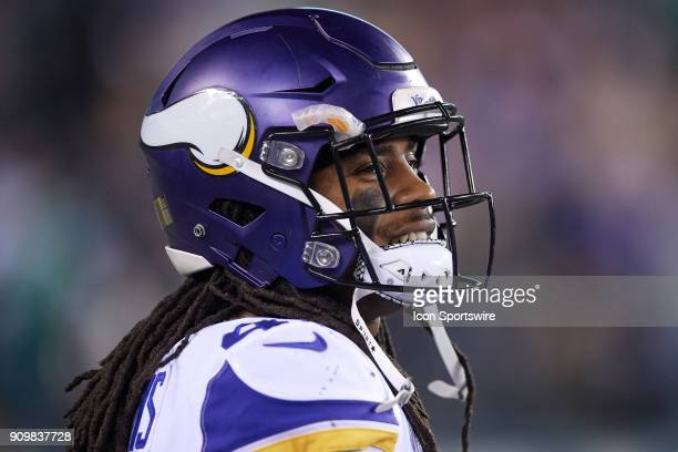 Minnesota Vikings strong safety Anthony Harris looks on during the NFC Championship Game between the Minnesota Vikings and the Philadelphia Eagles on...