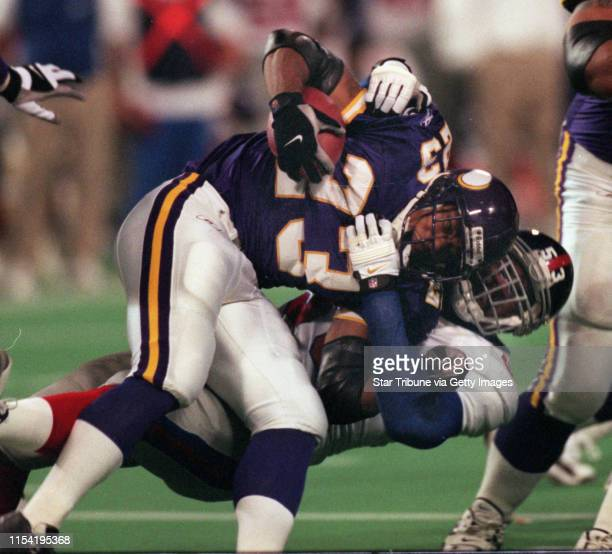 Minnesota Vikings vs New York Giants at home an Stringer dedication IN THIS PHOTO Rookie running back Michael Bennett caries the ball early in the...