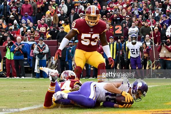 9dbbcf424 Minnesota Vikings wide receiver Adam Thielen catches a touchdown pass...  News Photo | Getty Images