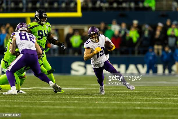 Minnesota Vikings wide receiver Adam Thielen runs during the NFL regular  season football game against the 48ea39625
