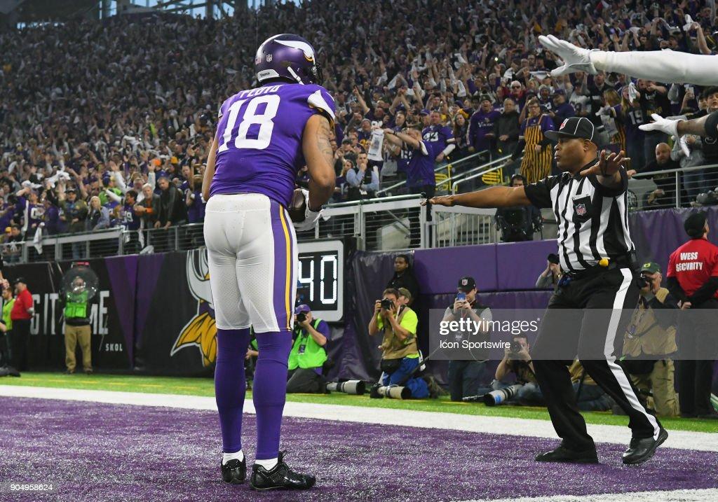 NFL: JAN 14 NFC Divisional Playoff  Saints at Vikings : News Photo