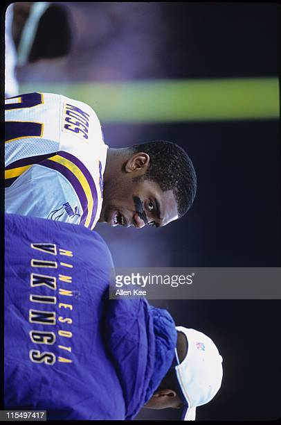 Minnesota Vikings wide receiver Randy Moss during the NFC Championship Game a 410 loss to the New York Giants on January 14 at Giants Stadium in East...