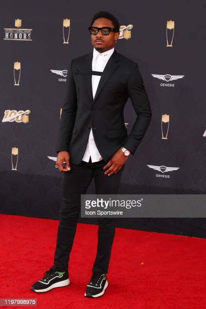 Minnesota Vikings wide receiver Stefon Diggs poses prior to the NFL Honors on February 1 2020 at the Adrienne Arsht Center in Miami FL