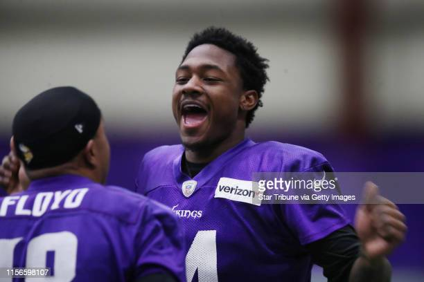Minnesota Vikings wide receiver Stefon Diggs wide receiver Michael Floyd during practice at Winter Park Thursday January 11 2018 in Eden Prairie MN ]...