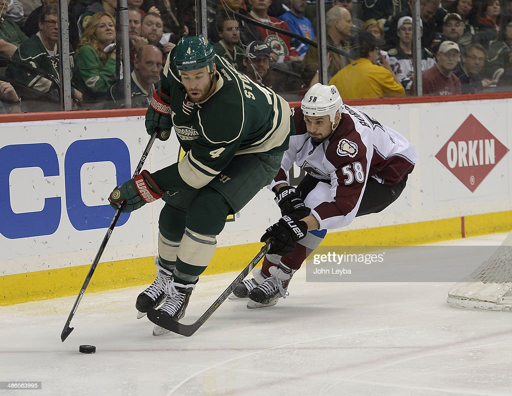 Colorado Avalanche vs the Minnesota Wild Game 4 of the Stanley Cup Playoffs    News Photo a373c58f2