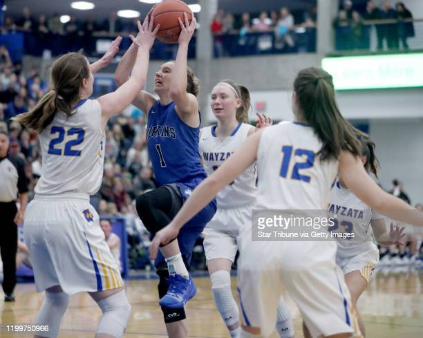 Minnetonka, MN February 1: Hopkins Paige Bueckers owned the night, leading her team to a 69-66 win over Wayzata while reaching 2000 high school...