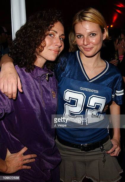 Minnie Driver and Bridget Hall during Glamour Magazine Don't Party at Del Taco Red Carpet and Inside at Del Taco on Highland and Santa Monica in...