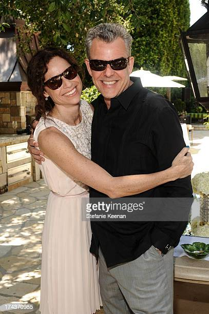 Minnie Driver and Danny Huston attend Lorena Sarbu Resort 2014 Luncheon on July 24 2013 in Beverly Hills California