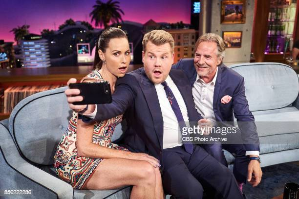 Minnie Driver and Don Johnson chat with James Corden during 'The Late Late Show with James Corden' Thursday September 28 2017 On The CBS Television...