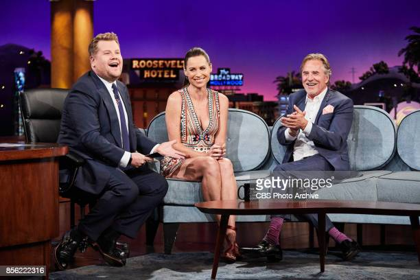 Minnie Driver and Don Johnson chat with James Corden during The Late Late Show with James Corden Thursday September 28 2017 On The CBS Television...