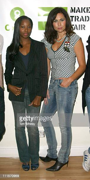 Minnie Driver and Jamelia during 'Make Trade Fair' Concert Photocall at Hammersmith Apollo in London Great Britain