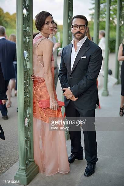 Minnie Driver and Jeremy Piven attends the launch party for the Fashion Rules exhibition a collection of dresses worn by HRH Queen Elizabeth II...