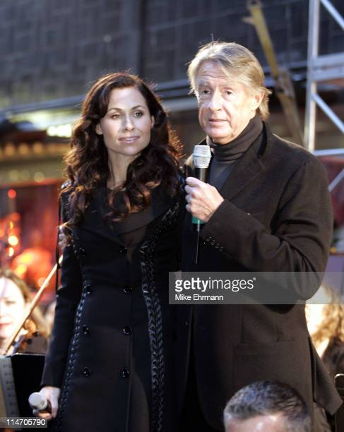Minnie Driver and Joel Schumacher during Unveiling of The Phantom of the Opera Themed Holiday Windows at Bloomingdales at Bloomingdales in New York...