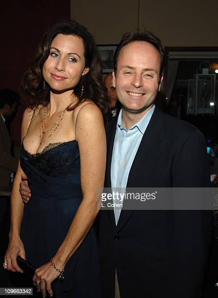 Minnie Driver and John Landgraf during The Fox All-Star Winter 2007 TCA Press Tour Party - Red Carpet and Inside at Villa Sorriso in Pasadena,...