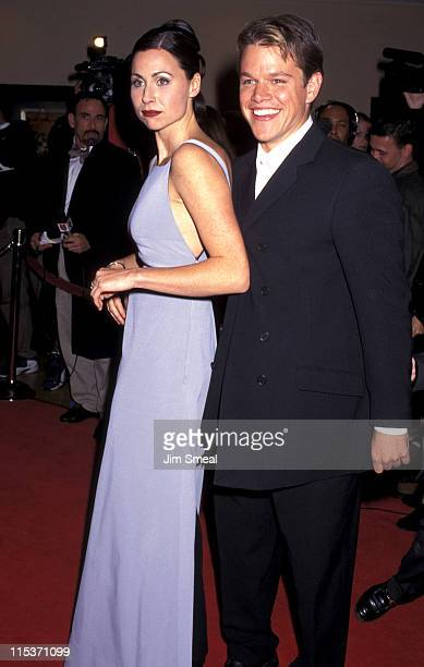 """Minnie Driver and Matt Damon during AFI Benefit Premiere of """"Good Will Hunting"""" at Mann Bruin Theatre in Westwood, California, United States."""