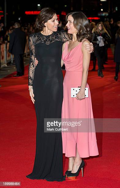 Minnie Driver and Rose Byrne attend the European Premiere of 'I Give It A Year' at Vue West End on January 24 2013 in London England