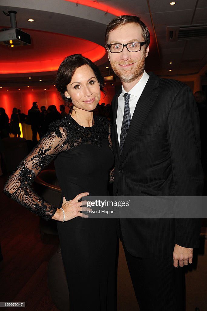 Minnie Driver and Stephen Merchant attend the European premiere of 'I Give It A Year' at The Vue West End on January 24, 2013 in London, England.