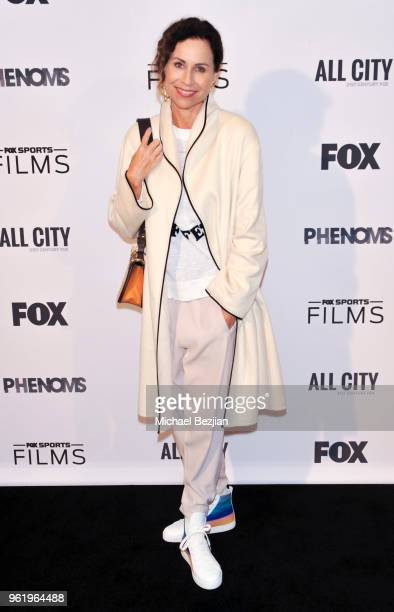 Minnie Driver arrives at Fox Sports Phenoms LA Premiere on May 23 2018 in Los Angeles California