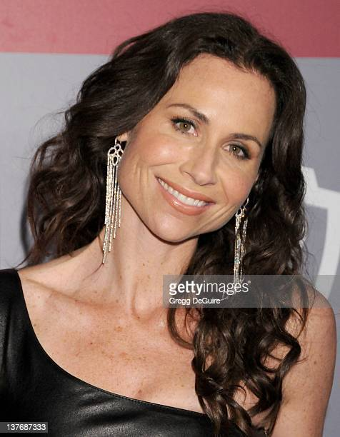 Minnie Driver arrives at the 12th Annual Warner Bros and Instyle PostGolden Globe Party at the Beverly Hilton Hotel on January 16 2011 in Beverly...