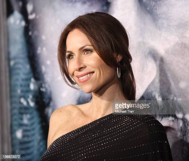 """Minnie Driver arrives at the Los Angeles premiere of """"The Grey"""" held at Regal Cinemas L.A. Live on January 11, 2012 in Los Angeles, California."""