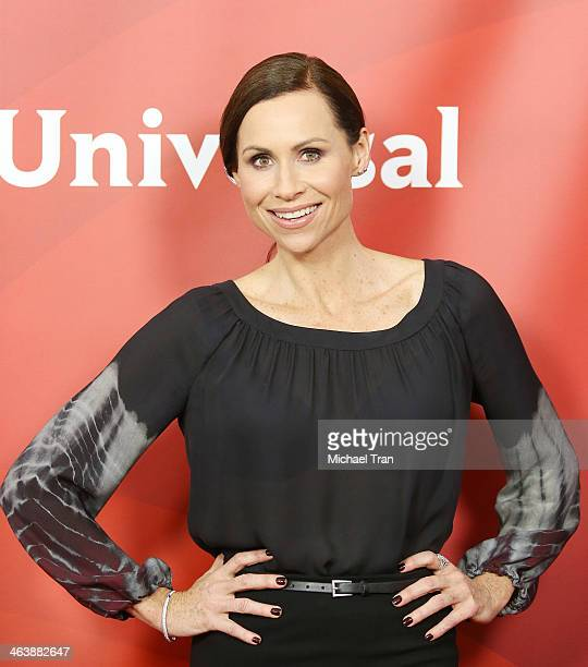 Minnie Driver arrives at the NBC/Universal 2014 TCA Winter press tour held at The Langham Huntington Hotel and Spa on January 19 2014 in Pasadena...