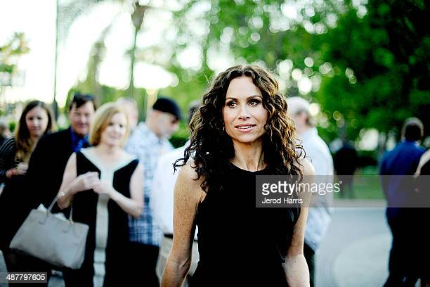 Minnie Driver arrives at the Premiere of Lifetime Television's 'Return To Zero' at Paramount Theater on the Paramount Studios lot on May 1 2014 in...